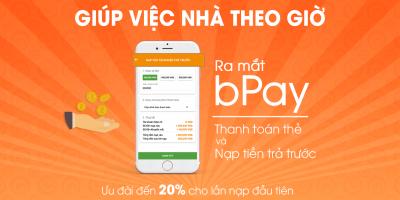 Ra mắt hình thức thanh toán bằng thẻ và nạp tiền trả trước bPay