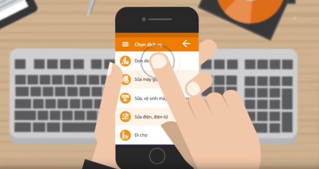 Đặt dịch vụ giúp việc nhà theo giờ qua ứng dụng – xu hướng của tương lai