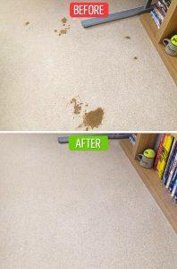 Làm sạch thảm chỉ với giấm ăn