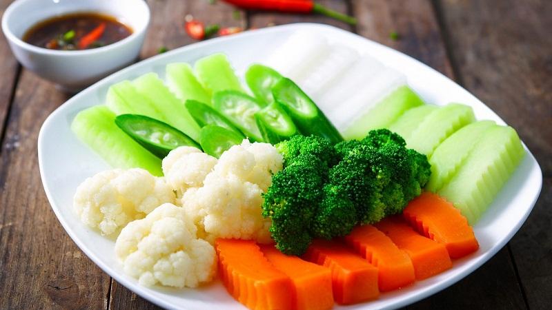 luộc rau xanh ngọt