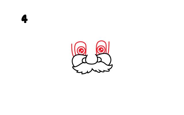 vẽ hai mắt ông già Noel
