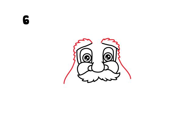 Vẽ đầy đủ hàng chân mày cho ông già Noel