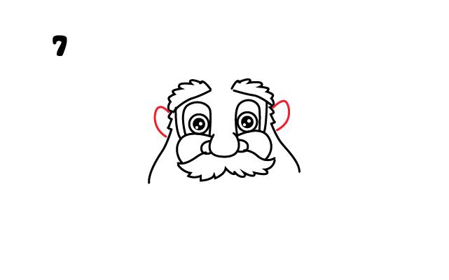 vẽ tai ông già Noel