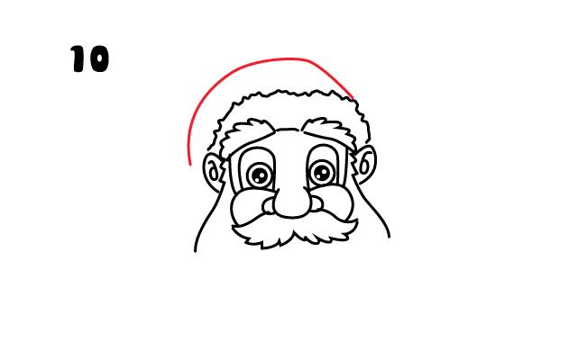 vẽ mũ cho ông già Noel