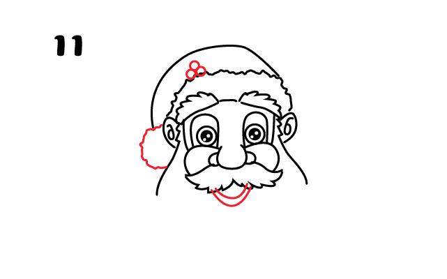vẽ miệng ông già Noel
