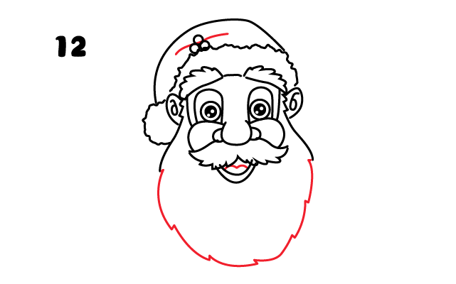 vẽ râu quai nón cho ông già Noel