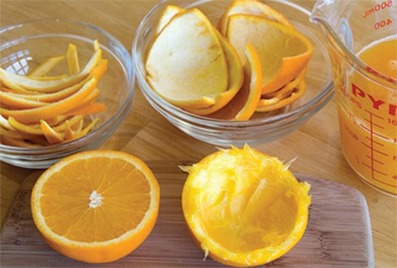 vỏ cam, vỏ quýt được dùng nhiều trong khử mùi