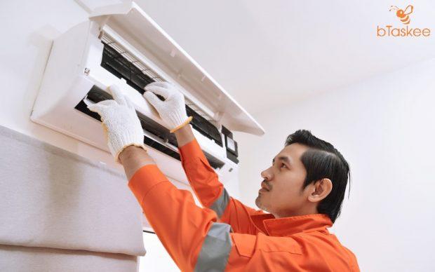 Gọi ngay chuyên viên sửa chữa khi máy lạnh thổi ra hơi nóng