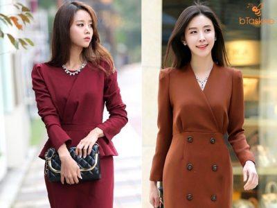 Những mẫu đầm công sở Hàn Quốc sang trọng đẹp nức lòng chị em