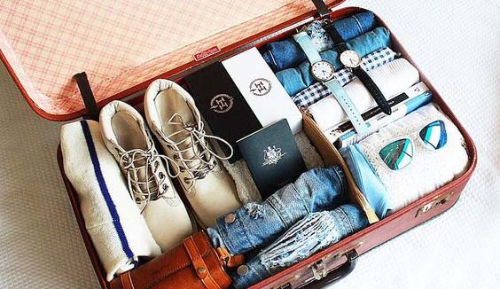 suitcase travelling