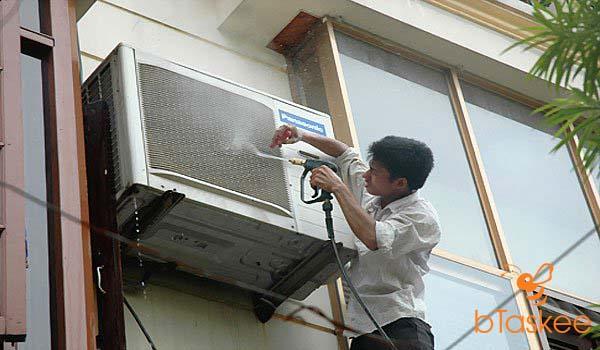 vệ sinh cục nóng máy lạnh