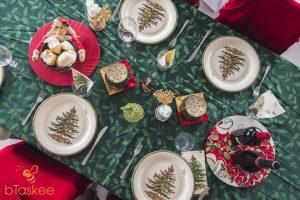 bàn ăn giáng sinh