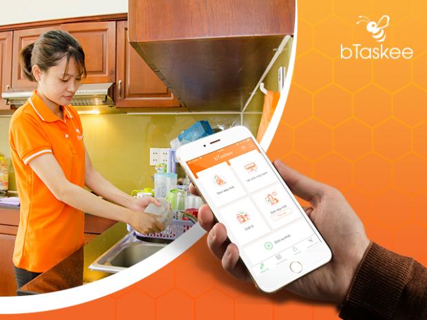 Tìm người giúp việc nhanh chóng với các tính năng đặc biệt trên Ứng dụng bTaskee