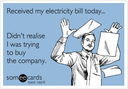 electricty bill