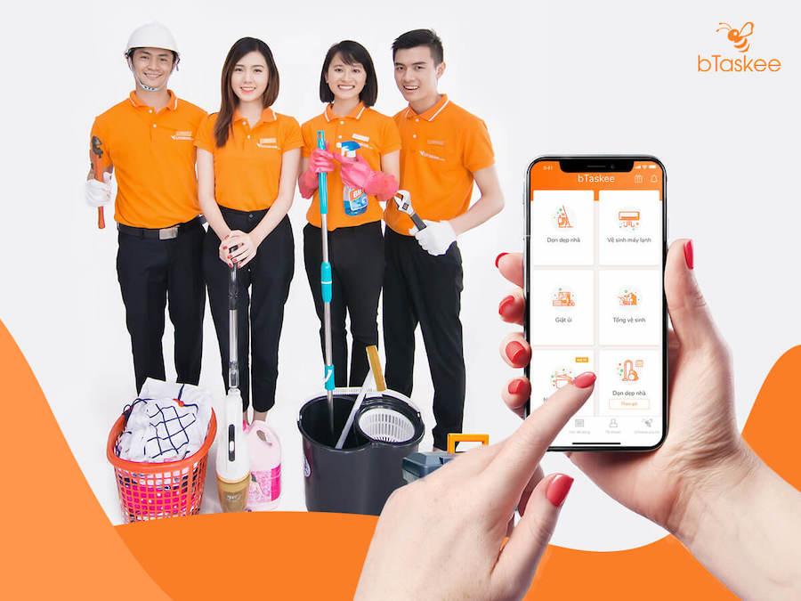 Tìm kiếm người giúp việc nhà qua ứng dụng bTaskee
