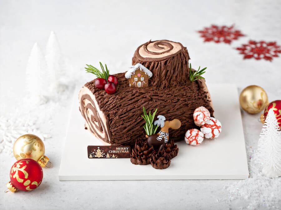 Bánh khúc cây là món ăn truyền thống Giáng sinh