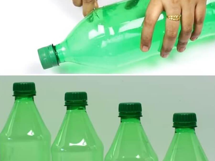 chai nhựa làm cây thông