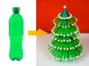 làm cây thông bằng chai nhựa