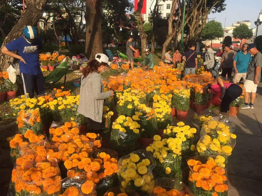 Chợ hoa Tết ở Sài Gòn