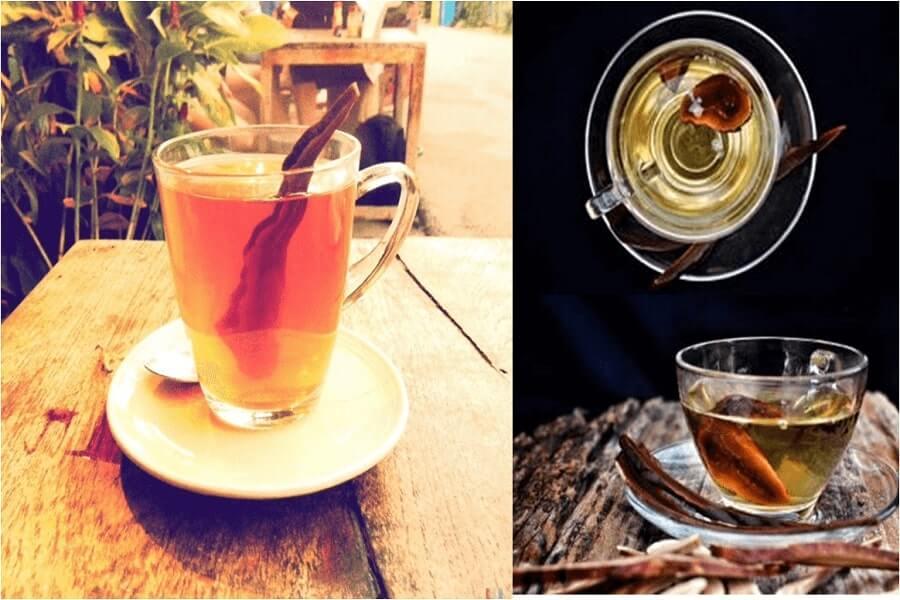 trà nấm linh chi