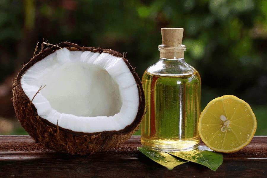 dầu dừa và chanh