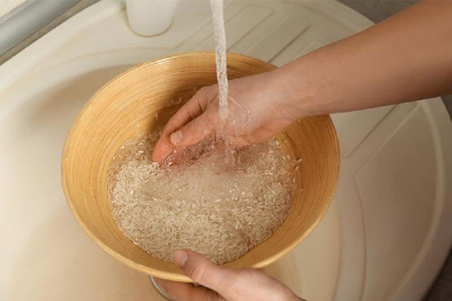 rửa gạo