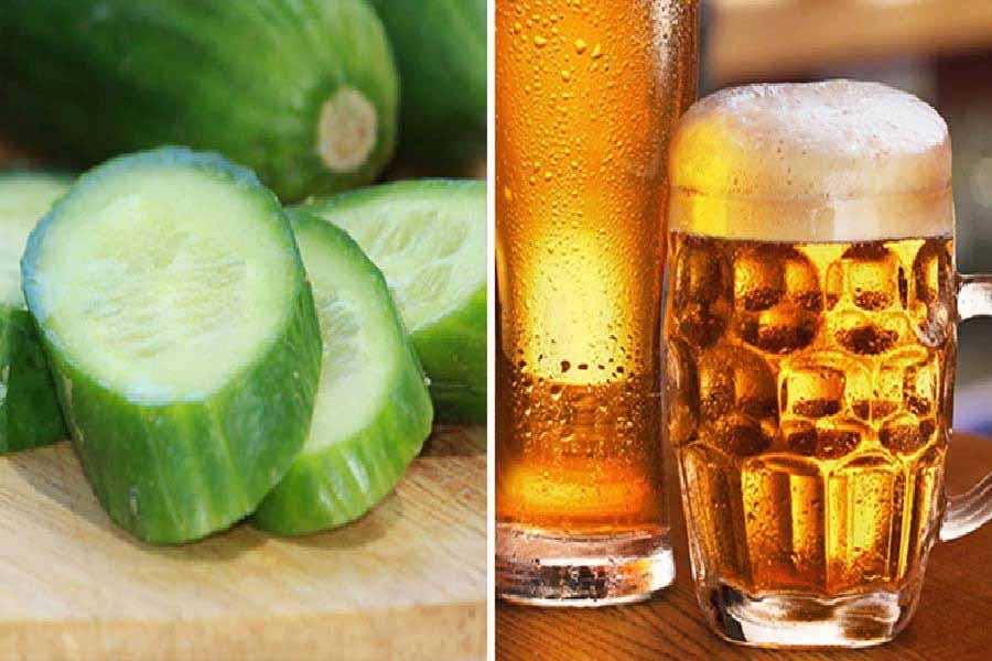 bia và dưa leo