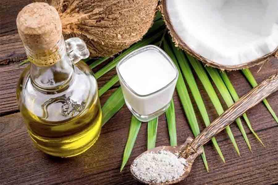 dầu dừa giảm mất protein