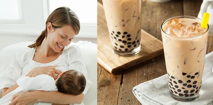 Sau sinh có uống trà sữa được không