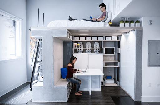 Trang trí phòng ngủ nhỏ tiết kiệm không gian bằng nội thất đa năng